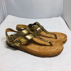 Born Leather Sandal size 6 gold